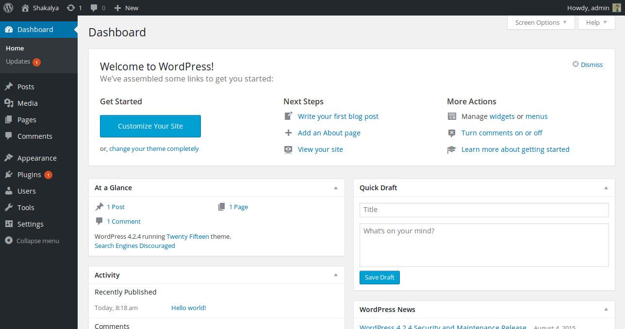 wordpress-installation-admin-panel